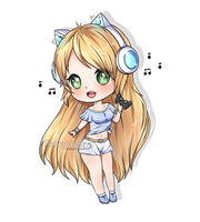 [C] chibi - gaming girl  [+ SPEEDPAINT ] by PennyGEM