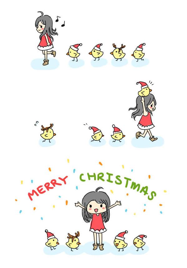 . Christmas Chickies . by Bunniiee-Puddy