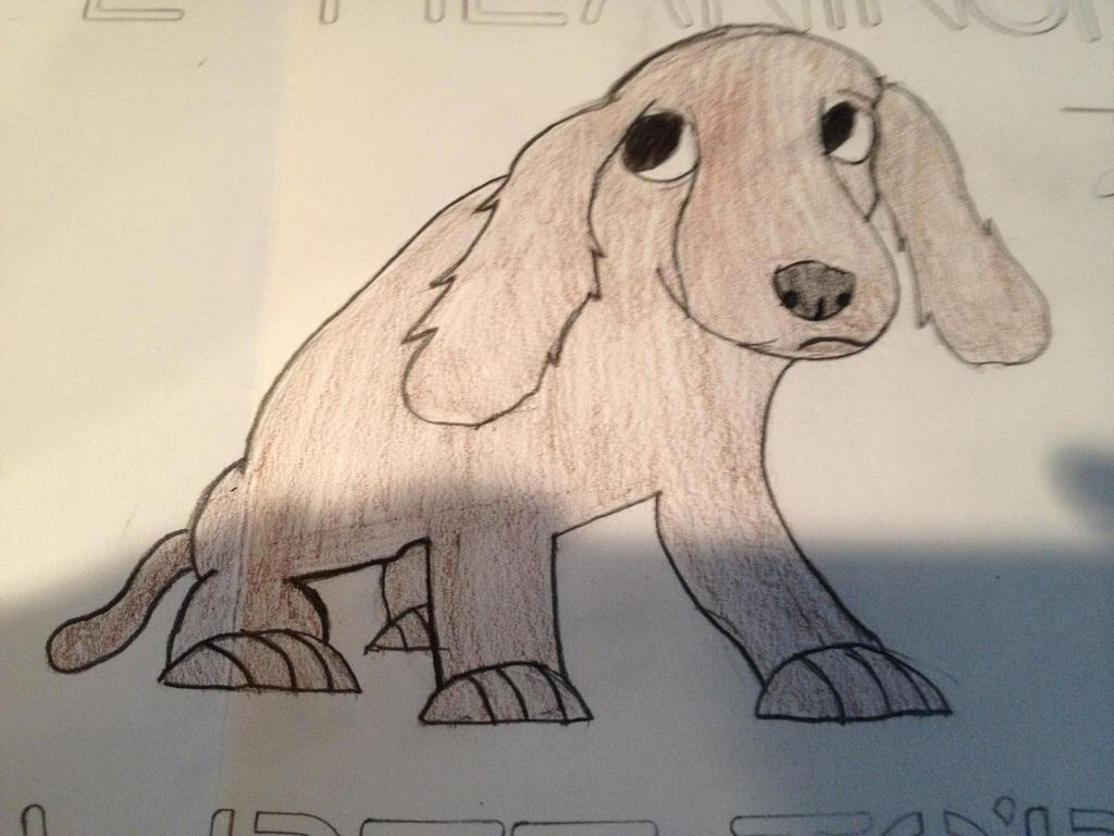 Sad Dog Drawing by Chibi-D9000