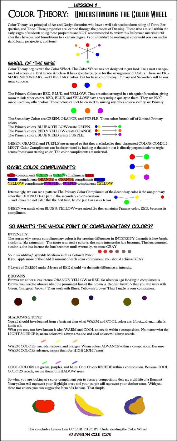 Lesson 1 : Color Wheel by Katmomma