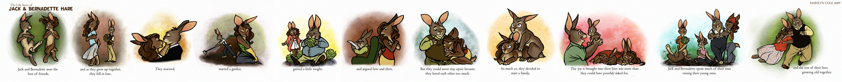 The Hare Life Story by Katmomma