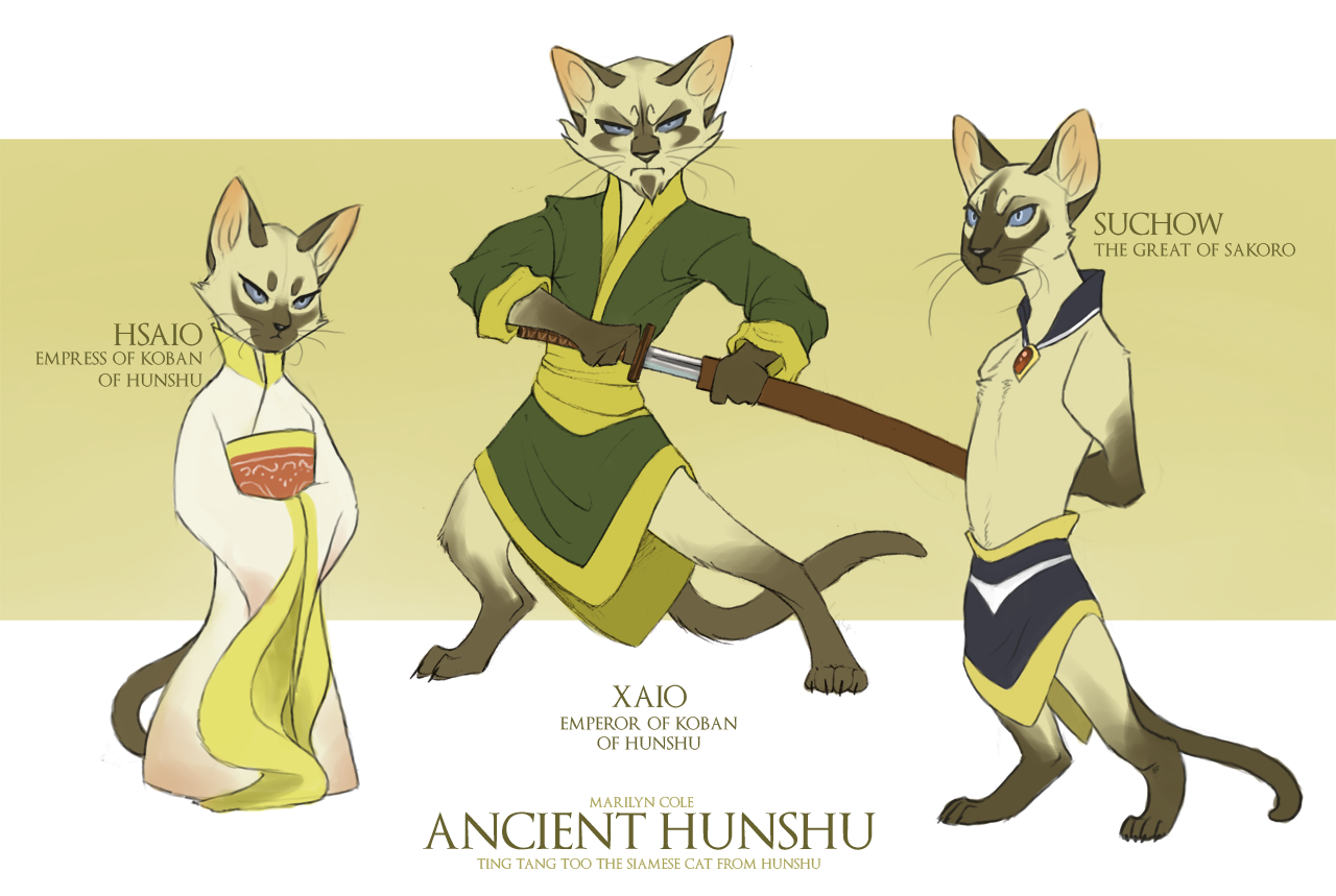 Ancient Hunshu Characters by Katmomma