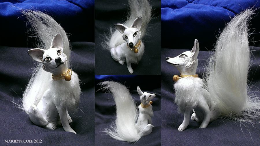 Kitsune Sculpture: Minerva by Katmomma