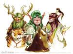 Malfurion, Tyrande and Illidan