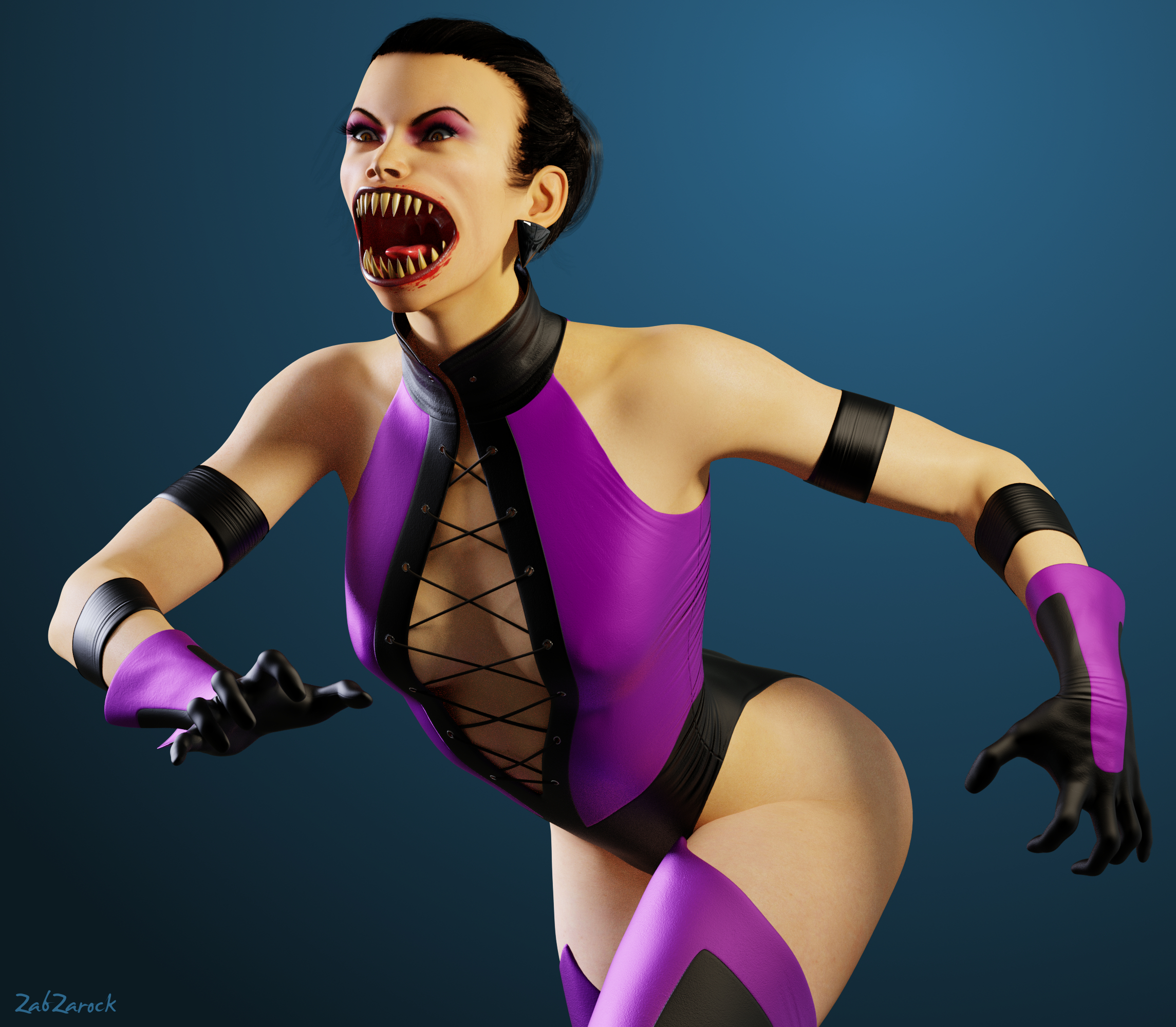 Mileena Unmasked01 by ZabZarock on DeviantArt