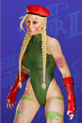 Cammy - SSF2 Defeated Portrait by ZabZarock