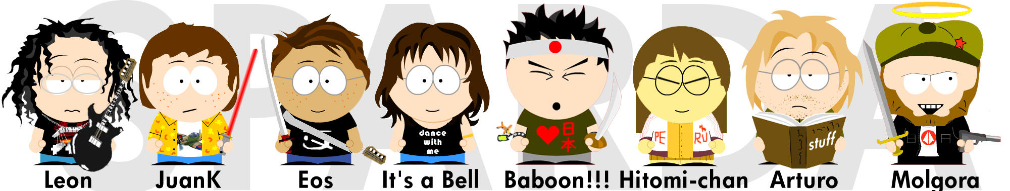 my gang south park style by eosmusashi