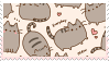 pusheen cat stamp by noragumies