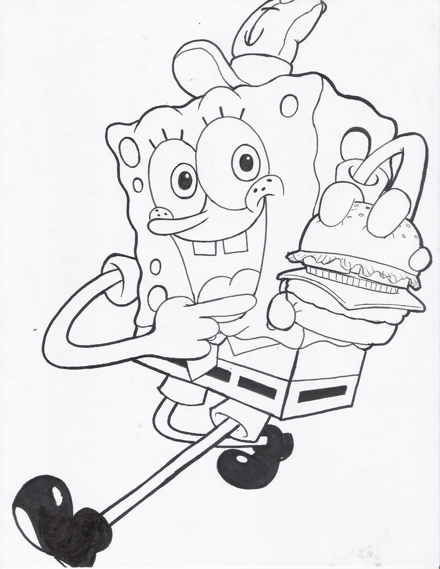 krabby patty coloring pages - photo#2