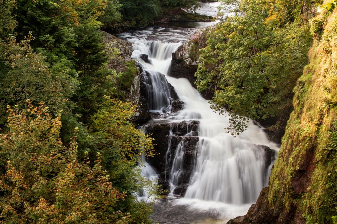 Reekie Linn Waterfall by DundeePhotographics