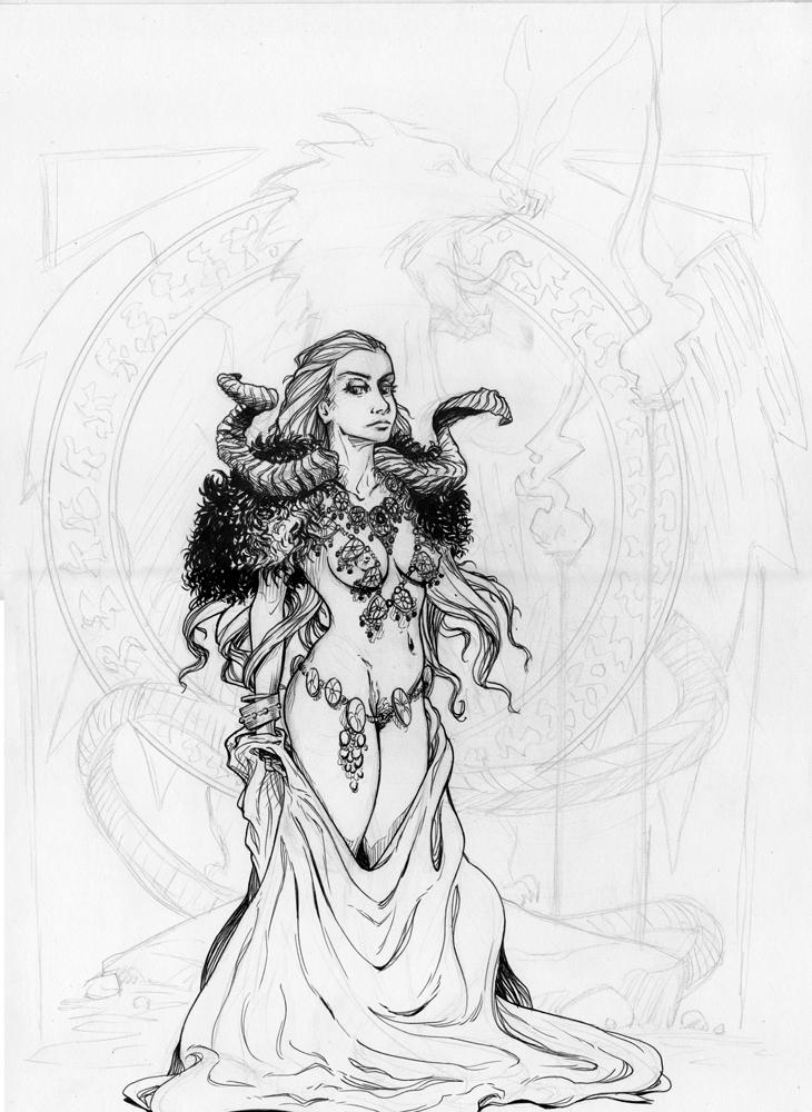 Priestess by tirhum