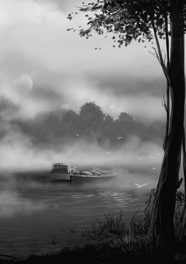 Reverie-fleuve001 by tirhum