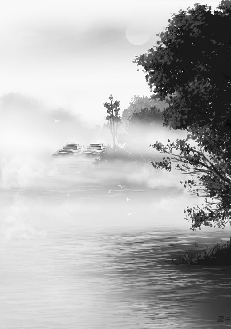 Reverie-fleuve006 by tirhum