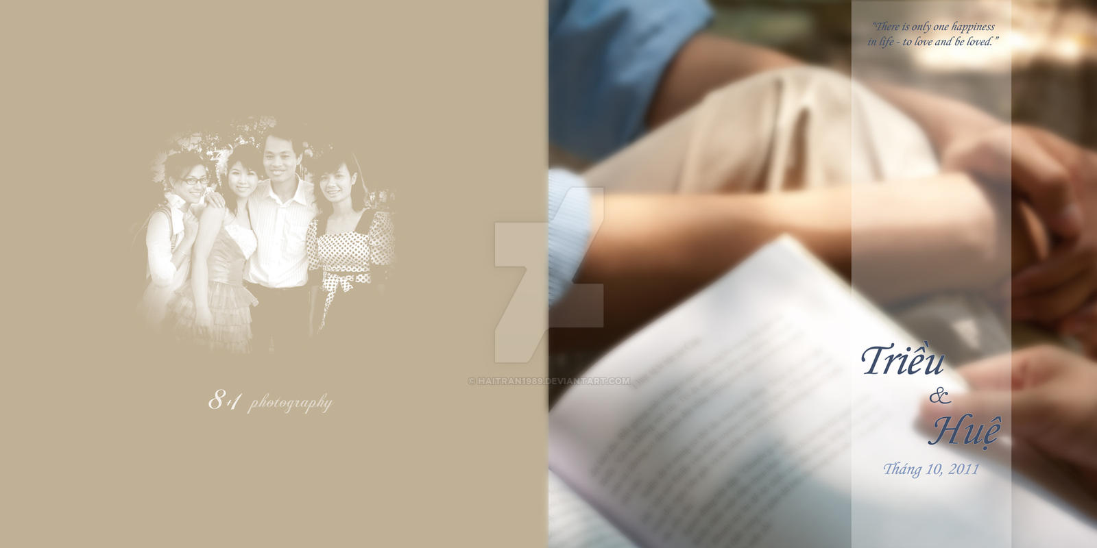 Trieu Hue Pre Wedding Album Cover By Haitran1989