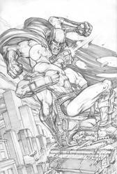 Batman vs DeadShot by keucha