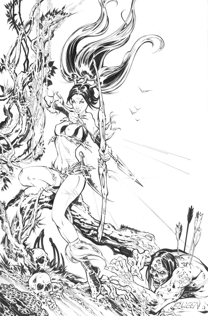 Randy Queen's Kickstarter exclusive cover by keucha