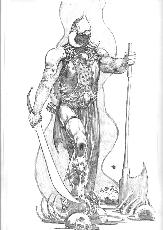 Kickstarter Commission Death Dealer by keucha
