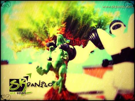 Robo brinquedo toy 2 mais bonsai