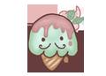 { Free Ice Cream } - Mr Matcha Stache by xyriae