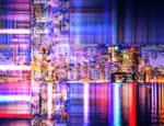Illuminated City - Digital Abstract Art