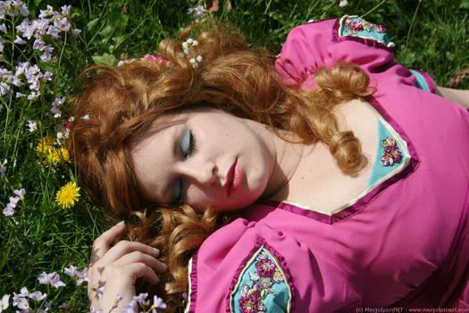 Pink Flower Girl 049