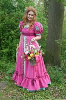 Pink Flower Girl 113 by MarjoleinART-Stock
