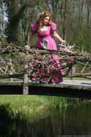 Pink Flower Girl 114 by MarjoleinART-Stock