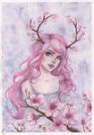 Cherry blossom antlers