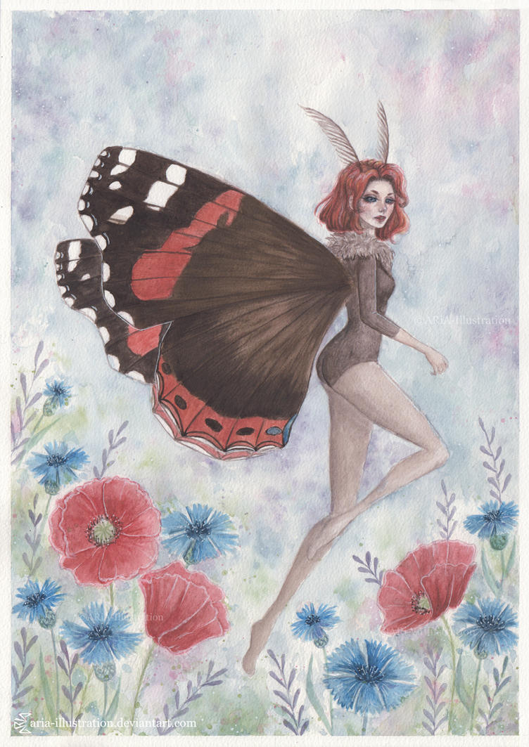 Vanessa Atalanta by ARiA-Illustration