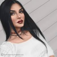 Evon Wahab -Photo study- by ARiA-Illustration