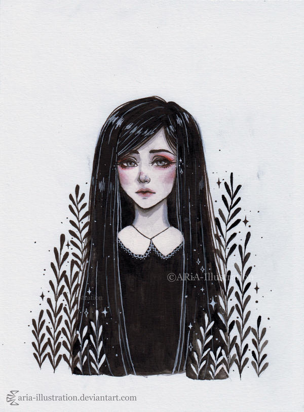 Day1 Inktober by ARiA-Illustration