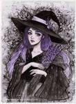 Day6 Inktober - Lavender Witch