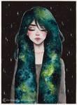 Day11 Inktober- Galaxy hair series 3/4