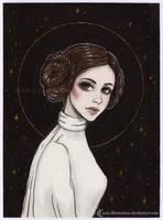 Princess Leia [Inktober2017] by ARiA-Illustration