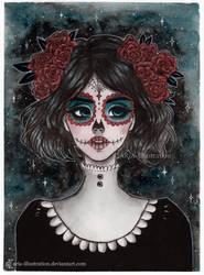 Day 29 Inktober 2017 -Dia de Muertos by ARiA-Illustration