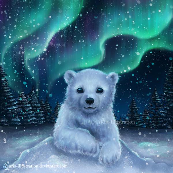 Polar Bear by ARiA-Illustration