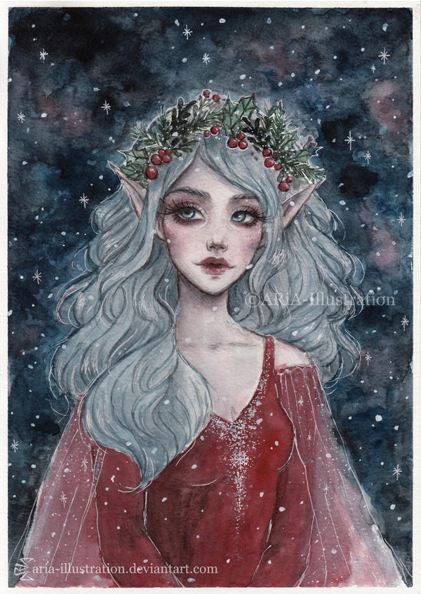 Christmas elf by ARiA-Illustration
