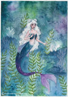 <b>Mermaid With Space Buns</b><br><i>ARiA-Illustration</i>