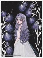 Bellflower Garden- Day 3. Inktober18 by ARiA-Illustration