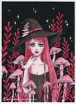Poisonous Mushroom witch- Day8 Inktober18