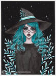 Aquamarine witch- Day 21 Inktober18
