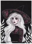 Pink galaxy witch Day 22 Inktober18