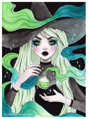 Toxic potion witch by ARiA-Illustration