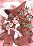 Rosehip tea witch