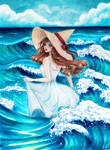 Sea wave witch