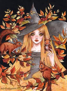 Squirrel witch
