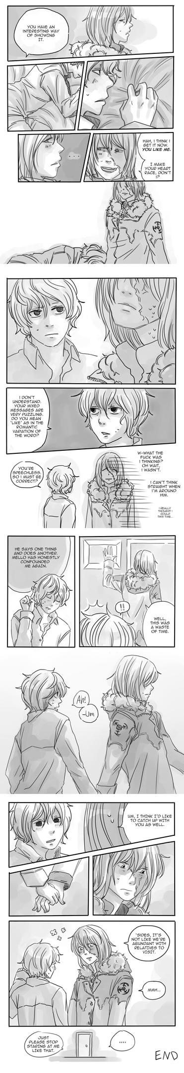 Old Mello B-day comic (2/2) by cloverinblue