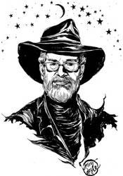Terry Pratchett by mysteryming