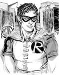 Grayscale Robin