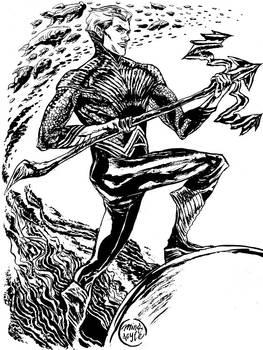Line Art - Aquaman Redesign